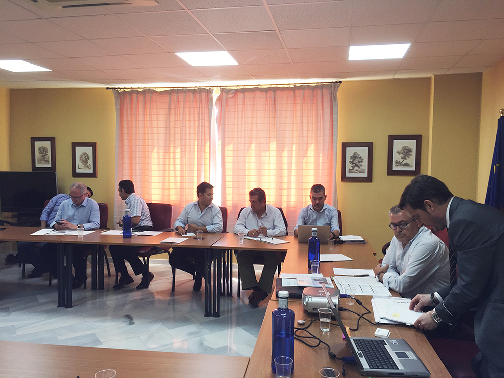 Imagen de la reunión de trabajo